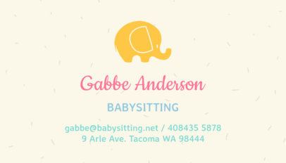 Placeit babysitting business card maker babysitting business card template colourmoves