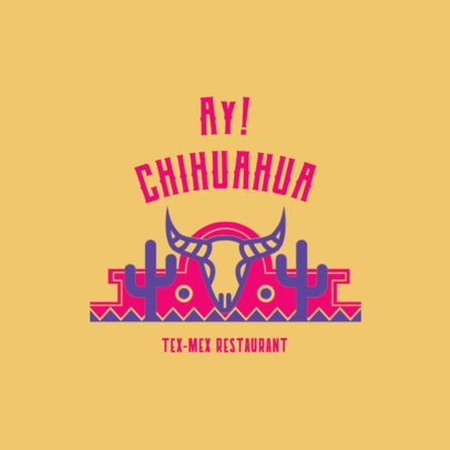 Tex Mex Restaurant Logo Maker a1237
