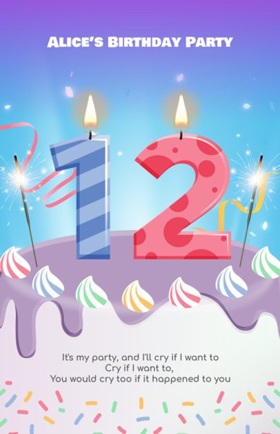 Birthday Party Flyer Maker a233