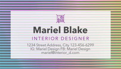 Interior Designer Business Card Maker a243