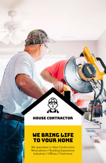 Flyer Design Template to Create Contractor Flyers 285