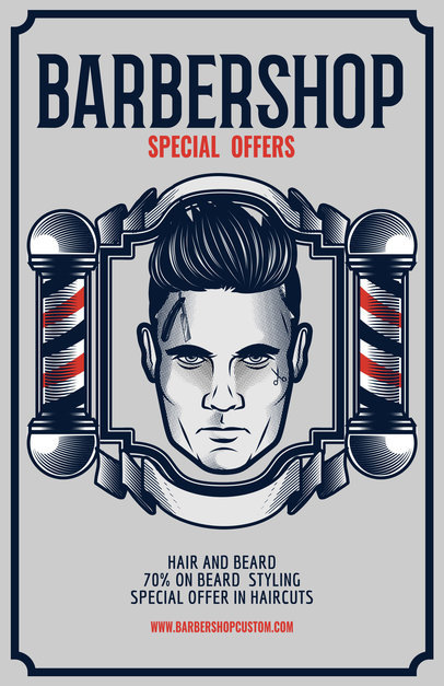 Barber Shop Flyer Maker a218