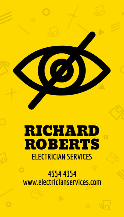 Electrician Business Card Maker a254