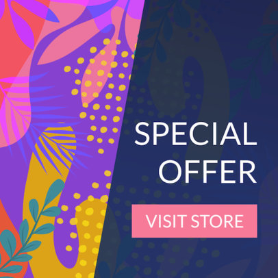 Online Banner Maker with Colorful Graphics 274