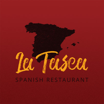 Spanish Restaurant Logo Maker with Spanish Graphics a1223