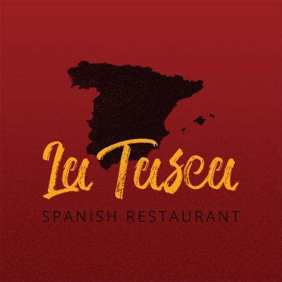 Spanish Restaurant Logo Maker with Spanish Graphics a1223
