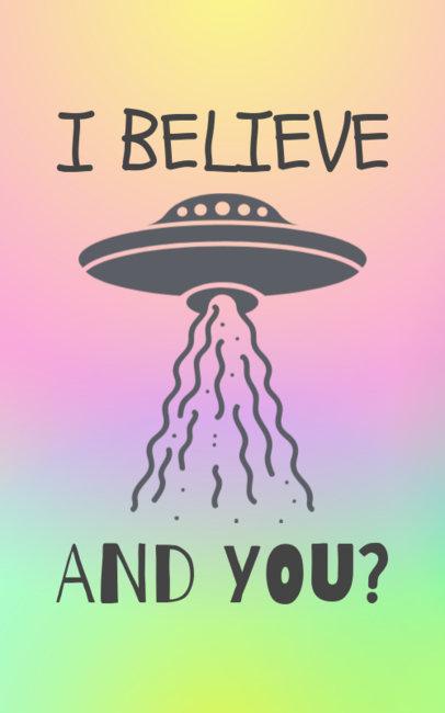 UFO T-Shirt Template 351e