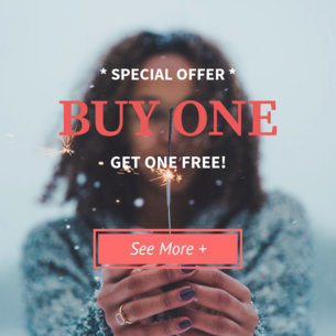 Promotional Banner Template with Button 16639b