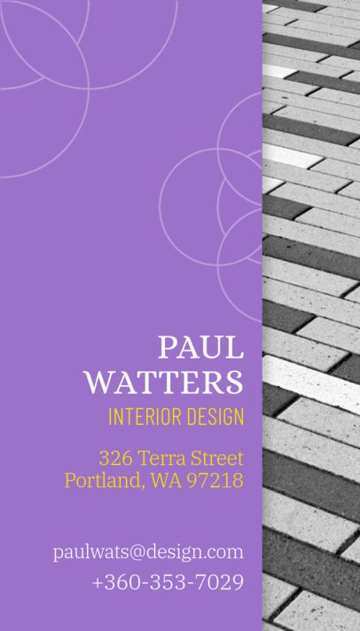Vertical Business Card Template for Professional Designers 312
