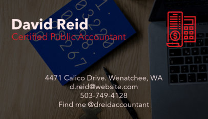 Accounting Business Card Maker a68