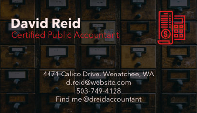 Accounting Business Card Maker with Photographic Background a68