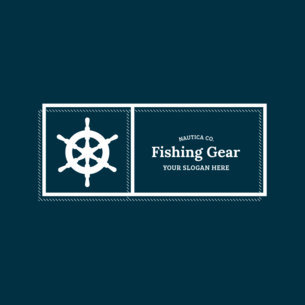 Rectangular Logo Maker for Fishing Supplies Store 354b