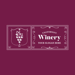 Badge Logo Maker for Winery Stores 354e