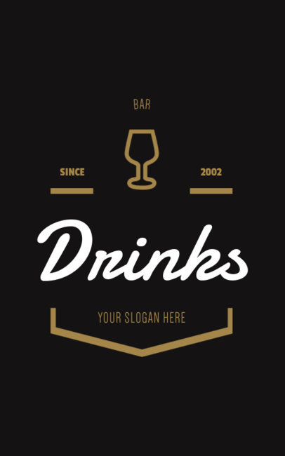 Classy Logo Template for Bars 355c