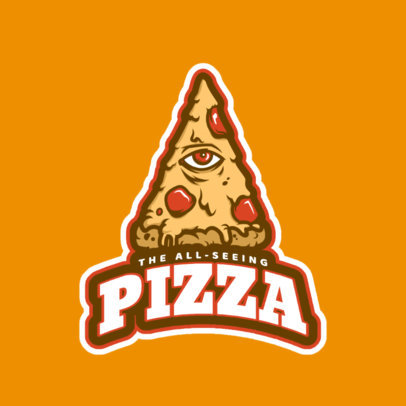 Sports Logo Maker for Pizza Designs 523c