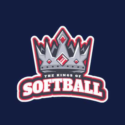 Softball Logo Maker With Cartoon Graphics 523f