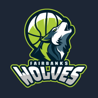 Basketball Logo Maker with Wolf Icon 336d