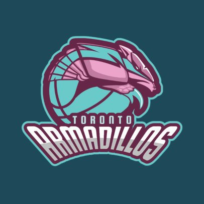 Basketball Logo Template with Armadillo 336e