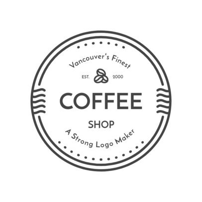 Coffee Shop Logo Design Template with Minimalist Style 949d
