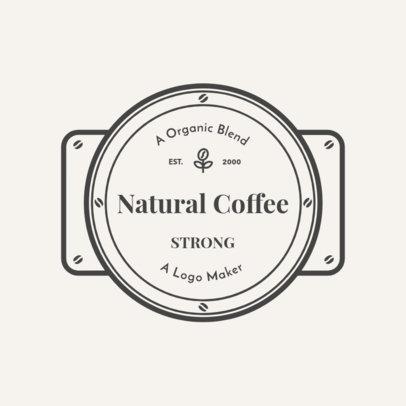 Coffee Shop Logo Maker with Metallic Badge 949e