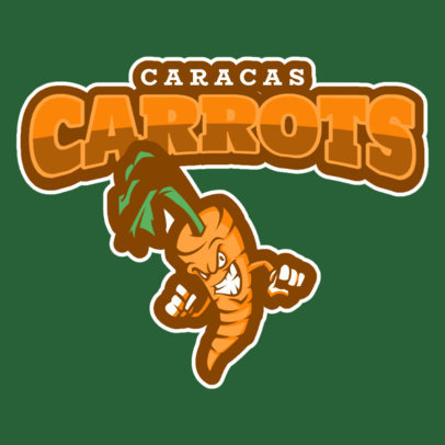 Sports Logo Maker with Carrot Icon 484c