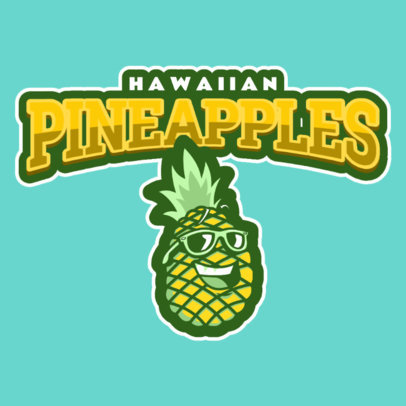 Sports Logo Maker with Pineapple Clipart 484e