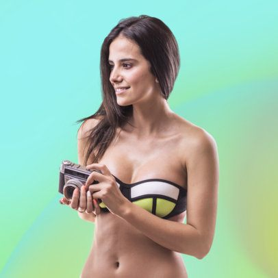 People Photo Stock Maker In Beachwear Clothing