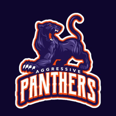 Aggressive Animal Sports Logo Maker 21a