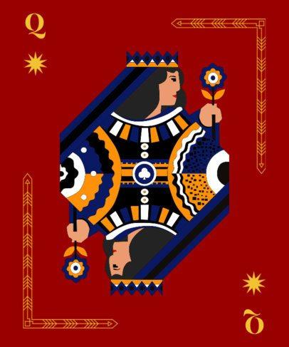 Queen Card T-Shirt Design Maker 8e
