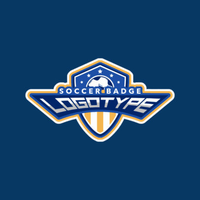 Soccer Shield Sports Logo Maker 196a