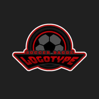 Soccer Badge Sports Logo Maker 196d
