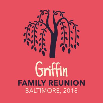 Family Tree Design T-Shirt Template 45b