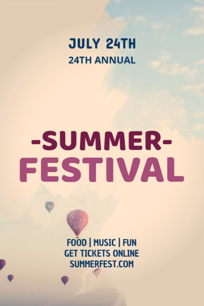 Summer Party Poster Template with Dark Graphics 53c