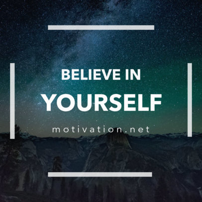 Motivational Social Media Post Template 16613a