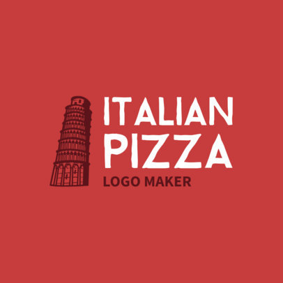 Logo Maker for Classic Italian Pizza Restaurants 989b