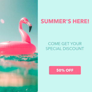 Online Banner Maker with Button for Summer Promos 16642a