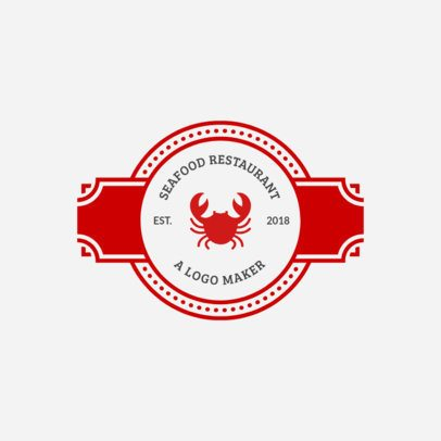 Badges with Ribbon for Seafood Logo Maker 990c