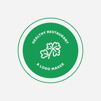 Healthy Logo Maker for Healthy Food Restaurants 990d