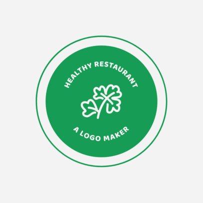 Healthy Logo Maker for Healthy Food Restaurants 990d