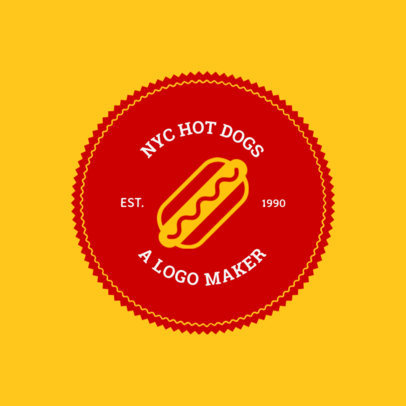 Logo Maker for a Hot Dog Cart or Hot Dog Shop 1013d