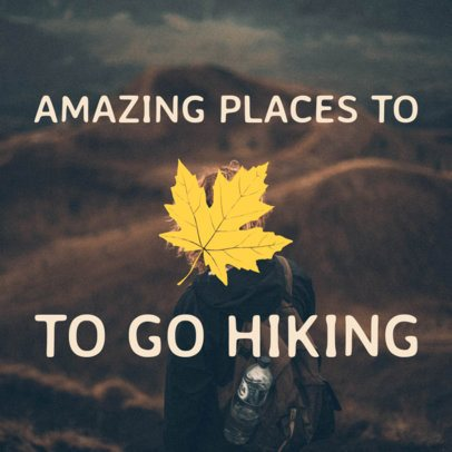 Hiking Social Media Post Template 564a