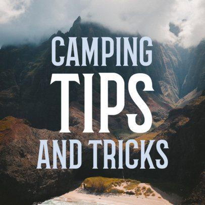 Camping Social Media Post Maker 564b