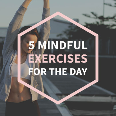 Social Media Post Template for Fitness Tips 582b