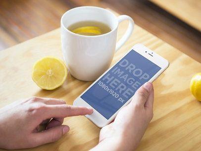Lemon Tea and iPhone 6