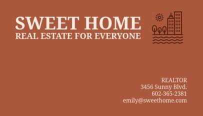 Business Card Maker for Real Estate Agents 66d