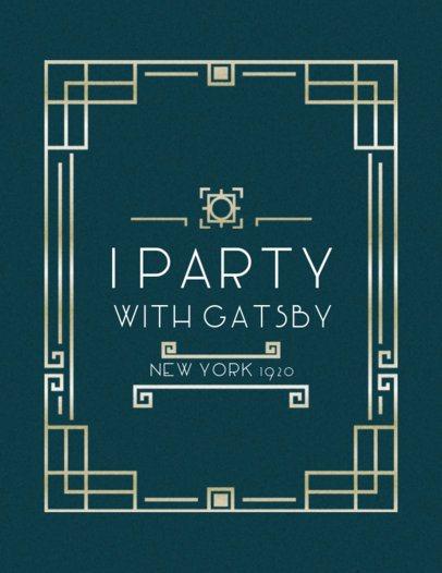 Gatsby Themed Party Shirt Design Maker 10e