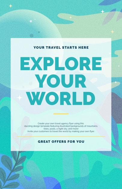 placeit travel online flyer maker with feminine design
