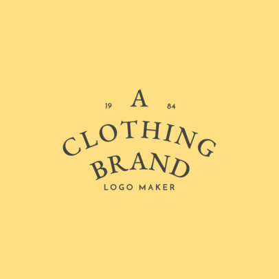 Fashion Brand Logo Maker with Curved Text 1067b