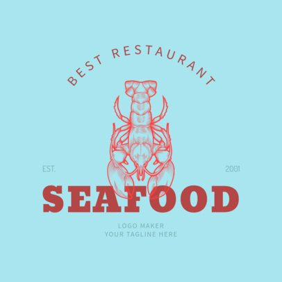 Restaurant Logo Maker with Seafood Illustrations 1020c