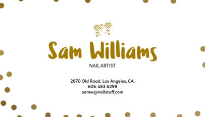 Business Card Maker for Nail Artists 67a